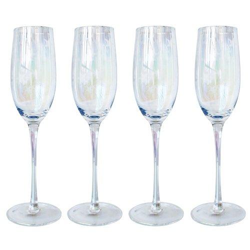 """Набор бокалов для шампанского """"Перламутр"""", 4 шт."""