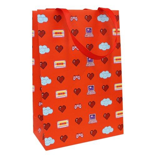 Фото - Пакет подарочный 8 bit love А5, 16 х 24 х 8 см пакет подарочный единорог на пончике а5 16 х 24 х 8 см