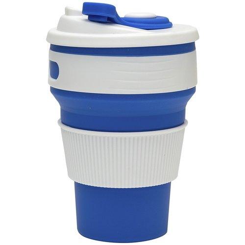 Складной эко-стакан для кофе, 350 мл, синий