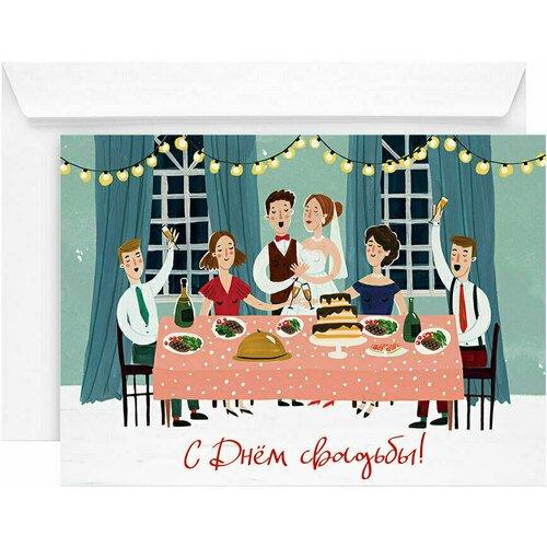 Открытка Свадьба, 13 х 18 см открытка свадьба 13 х 18 см