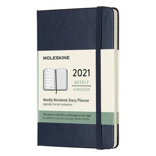 """Еженедельник датированный на 2021 """"Classic WKNT"""" Pocket, 144 страницы, синий сапфир"""
