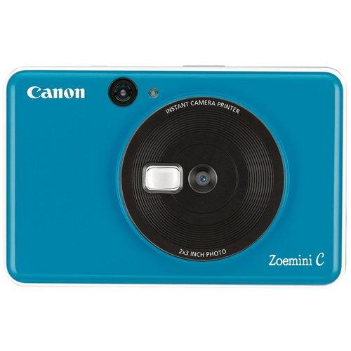 Фото - Камера моментальной печати Canon Zoemini C, голубая фотоаппарат моментальной печати canon zoemini c цвет морской волны