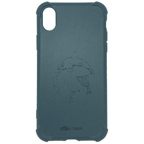 Биоразлагаемый чехол SOLOMA Case для iPhone XR с ударопрочными углами, светло-синий