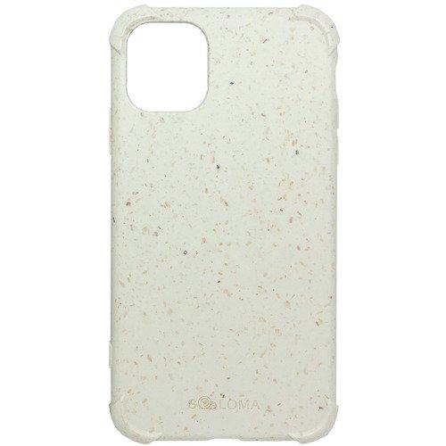 Биоразлагаемый чехол SOLOMA Case для iPhone 11 с ударопрочными углами, бело-бежевый