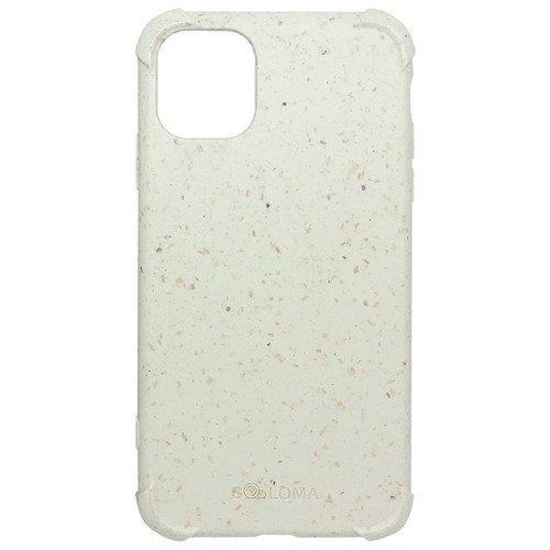 Биоразлагаемый чехол SOLOMA Case для iPhone 11 Pro с ударопрочными углами, бело-бежевый