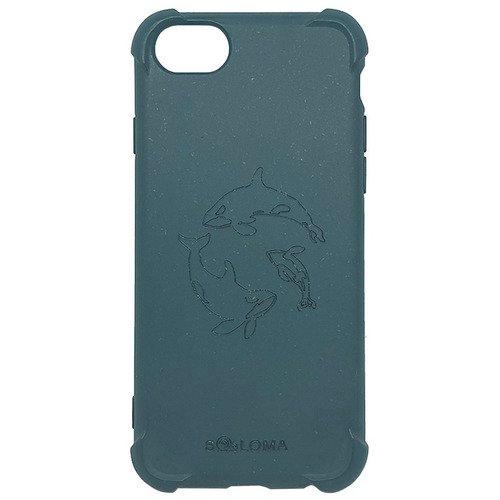 Биоразлагаемый чехол SOLOMA Case для iPhone 6/6S/7/8, SE 2020 с ударопрочными углами, светло-синий