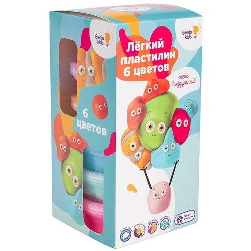 Набор для детской лепки Лёгкий пластилин, 6 цветов