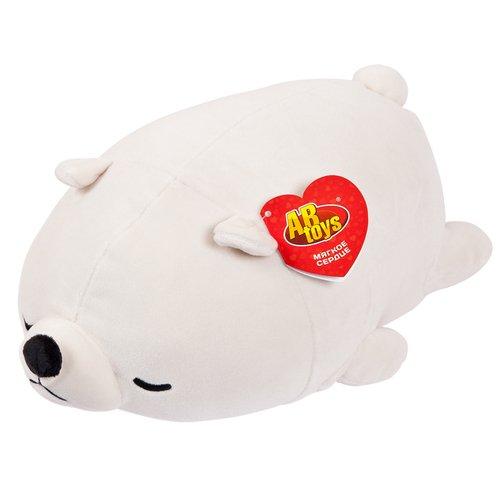 Мягкая игрушка Abtoys «Медвежонок полярный», 27 см