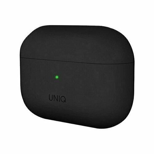 Чехол для Airpods Pro Uniq Lino Liquid silicone черный