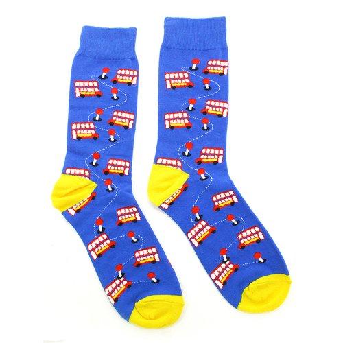 Носки Krumpy Socks England «Автобусы», 35-40