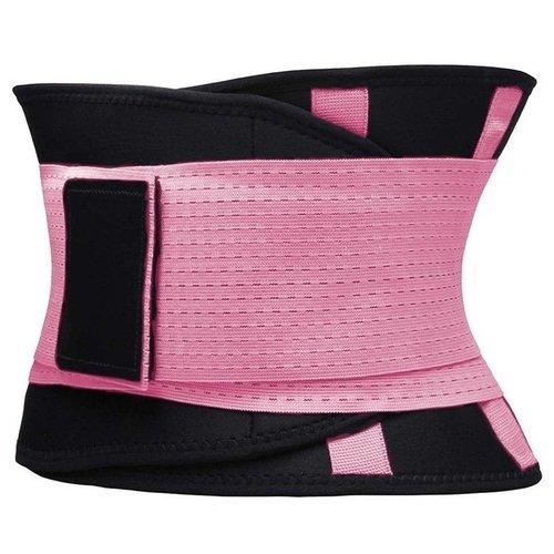 Фитнес пояс для похудения CleverCare, XL, розовый