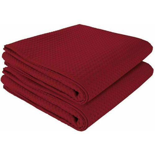 Комплект полотенец вафельных GoodNight 45x70 (2шт), бордо