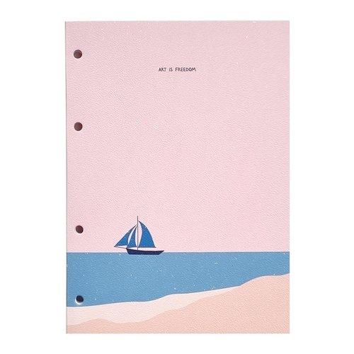 """Блокнот для записи иностранных слов Be Smart """"Golden sun"""", 80 листов, 14 х 19,8 см"""
