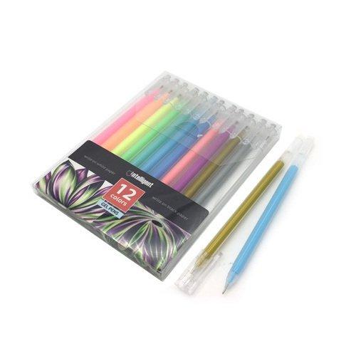 Ручки гелевые Intelligent CD-36, 12 цветов