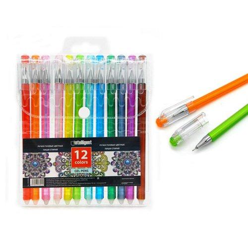 Ручки гелевые Intelligent CH-5018 Пиши-стирай, 0.5 мм, 12 цветов