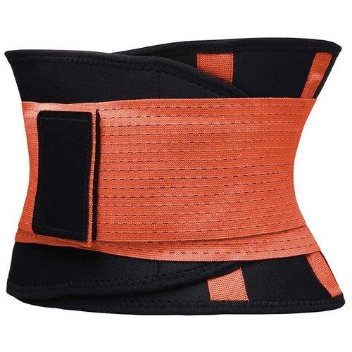 Фитнес пояс для похудения CleverCare, XXL, оранжевый
