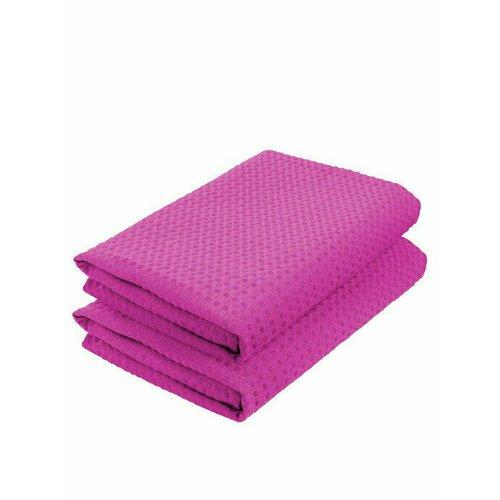 Комплект полотенец вафельных GoodNight 45x70 (2шт), фуксия