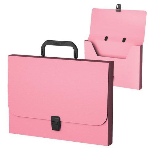 Портфель пластиковый ErichKrause Matt Pastel, FC, розовый