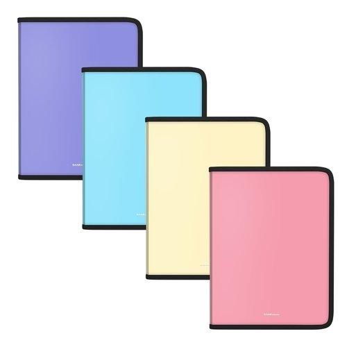 Папка для тетрадей на молнии пластиковая ErichKrause Matt Pastel, A5+, в ассортименте