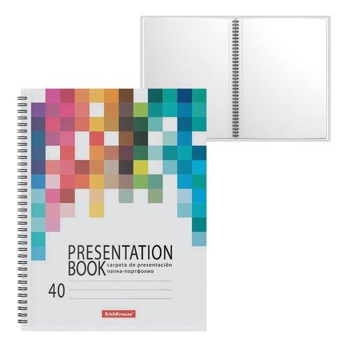 Папка-портфолио пластиковая ErichKrause Bright Tetris, c 40 карманами, A4