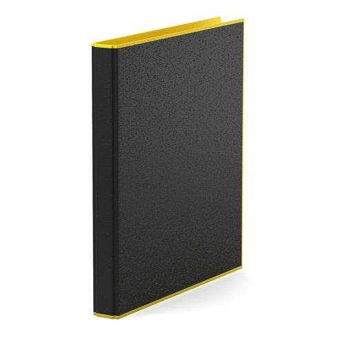 Папка–регистратор на 2 кольцах ErichKrause, Accent, А4, 35 мм, желтая