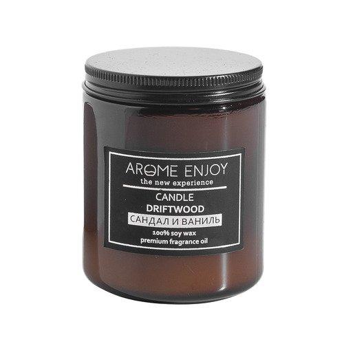 Свеча ароматическая Arome Enjoy Сандал и ваниль. JUST CHILL, 240 мл