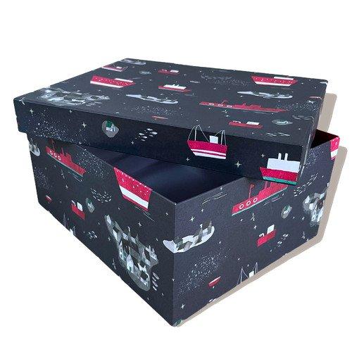 "Подарочная коробка Bummagiya ""Большое плавание"" 36 х 24 х 9 см"