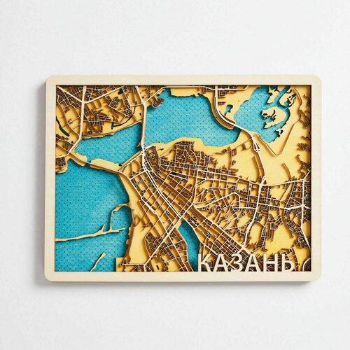 Деревянная карта Это Просто Постер